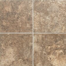 "San Michele 18"" x 18"" Cross - Cut Field Tile in Moka"