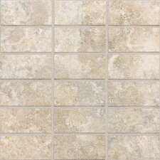 "San Michele 4"" x 2"" Cross - Cut Mosaic Tile in Crema"