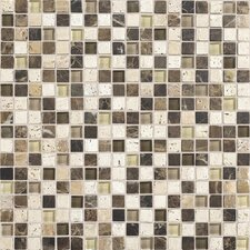 "Stone Radiance 12"" x 12"" Mosaic Tile Blend in Morning Sun / Tortoise / Mushroom"