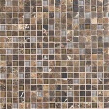 "Stone Radiance 5/8"" x 5/8"" Mosaic Tile Blend in Wisteria / Tortoise"