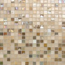 "City Lights 1/2"" x 1/2"" Glass Unpolished Mosaic in Beige"