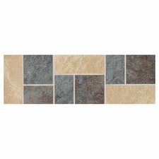 "<strong>Daltile</strong> Continental Slate 12"" x 4"" Decorative Accent in Multi Deco"