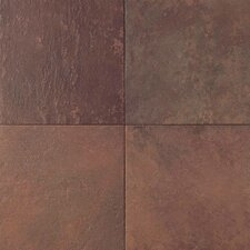 Continental Slate Porcelain Glazed Field Tile in Indian Red