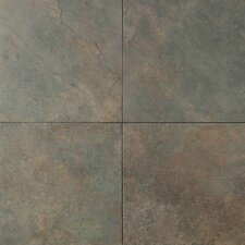 "Continental Slate 12"" x 12"" Field Tile in Brazilian Green"