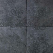 "Continental Slate 12"" x 12"" Field Tile in Asian Black"