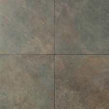 Continental Slate Porcelain Glazed Field Tile in Brazilian Green