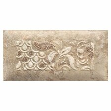 "Del Monoco 6-1/2"" x 3-1/4"" Glazed Decorative Tile in Tatiana Noce"