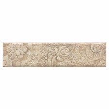 "Del Monoco 13"" x 3"" Glazed Decorative Border in Tatiana Noce"