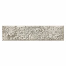 "Del Monoco 13"" x 3"" Glazed Decorative Border in Leona Grigio"