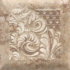 "Del Monoco 6-1/2"" x 6-1/2"" Glazed Decorative Tile in Tatiana Noce"