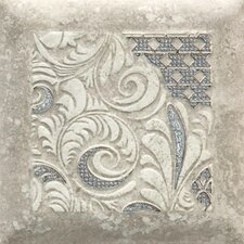 "Del Monoco 6-1/2"" x 6-1/2"" Glazed Decorative Tile in Leona Grigio"