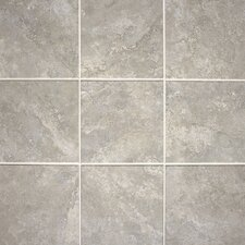 "Del Monoco 20"" x 13"" Glazed Field Tile in Leona Grigio"