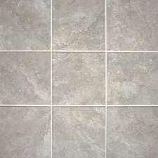 "Del Monoco 20"" x 20"" Glazed Field Tile in Leona Grigio"