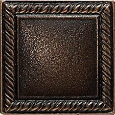"<strong>Daltile</strong> Ion Metals 2"" x 2"" Decorative Rope Accent Tile in Antique Bronze"