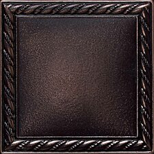"<strong>Daltile</strong> Ion Metals 4-1/4"" x 4-1/4"" Decorative Rope Accent Tile in Oil Rubbed Bronze"