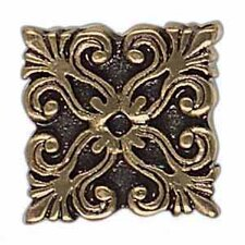"Massalia 1"" x 1"" Decorative Frieze Button in Bullion"