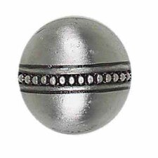 "Massalia 1"" x 1"" Decorative Bead Button in Pewter"