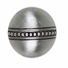 "Massalia 1"" x 1"" Decorative Bead Button in Pewter"