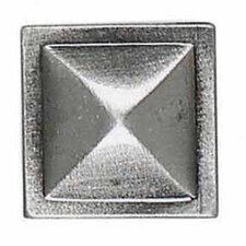 "Massalia 1"" x 1"" Decorative Pinnacle Button in Pewter"