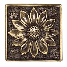 "<strong>Daltile</strong> Massalia 2"" x 2"" Decorative Floral Accent in Bullion"