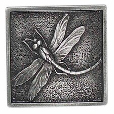 "Massalia 2"" x 2"" Decorative Dragon Fly Accent in Pewter"