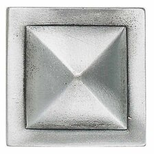 "Massalia 2"" x 2"" Decorative Pinnacle Accent in Pewter"