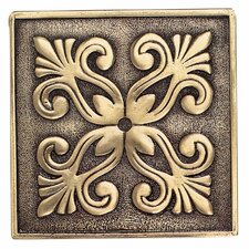 "Massalia 4"" x 4"" Decorative Frieze Accent in Bullion"