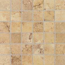 """Pietre Vecchie 2"""" x 2"""" Mosaic Field Tile in Golden Sienna"""