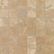 "<strong>Daltile</strong> Pietre Vecchie 12"" x 12"" Mosaic Field Tile in Warm Walnut"