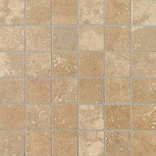 "Pietre Vecchie 2"" x 2"" Mosaic Field Tile in Warm Walnut"