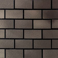 "Urban Metals 12"" x 12"" Brick Joint Decorative Accent in Bronze"