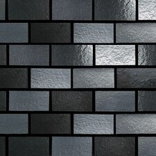 "Urban Metals 12"" x 12"" Brick Joint Decorative Accent in Gunmetal"