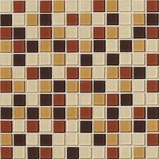 "Isis 1"" x 1"" Glass Mosaic Tile in Amber Blend"
