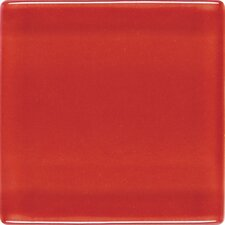 "Isis 1"" x 1"" Glass Mosaic Tile in Candy Apple Red"