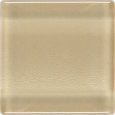 """Isis 1"""" x 1"""" Glass Mosaic Tile in Creampuff"""