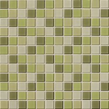 "Isis 12"" x 12"" Glass Mosaic Tile in Kiwi Blend"