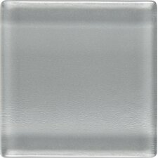 "Isis 1"" x 1"" Glass Mosaic Tile in Pewter Gray"