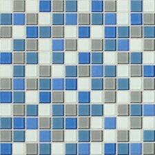 """Isis 1"""" x 1"""" Glass Mosaic Tile in Polo Blend"""