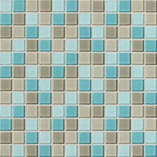 """Isis 1"""" x 1"""" Glass Mosaic Tile in Whisper Blend"""