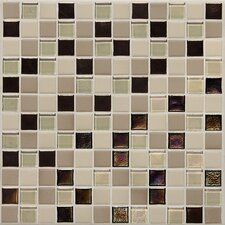 "Keystones Blends 1"" x 1"" Porcelain with Oceanside Glass Mosaic Tile in Sunset Cove"