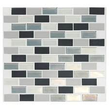 "Keystones Blends 2"" x 1"" Porcelain with Oceanside Glass Mosaic Tile in Tropical Thunder"