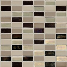 "Keystones Blends 2"" x 1"" Straight - Joint Porcelain with Oceanside Glass Mosaic Tile in Sunset Cove"