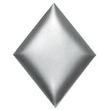 "Metallurgy 4"" x 3"" Diamond Field Tile in Pewter"