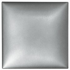"Metallurgy 4"" x 4"" Square Field Tile in Pewter"