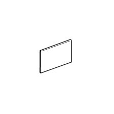 "Modern Dimensions 4 1/4"" x 8 1/2"" Bullnose with 8 1/2"" Edge in Matte Arctic White"