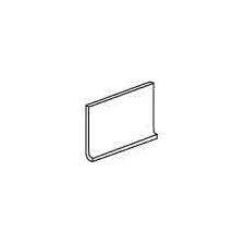 "Modern Dimensions 4 1/4"" x 8 1/2"" Flat Top Cove Base in Matte Biscuit"