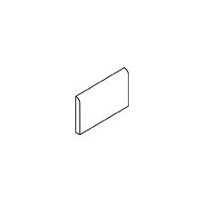 "Rittenhouse Square 6"" x 3"" Bullnose Tile Trim in Matte Biscuit"