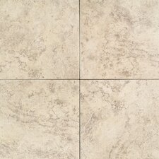 "Travata 13"" x 13"" Plain Glazed Porcelain Tile in Fresco Crème"