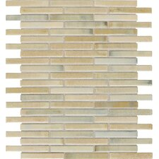 "Fashion Accents 3"" x 5/8"" Glazed Shimmer Illumini Random Mosaic in Sand"