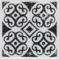 "<strong>Daltile</strong> Fashion Accents 2"" x 2"" Dots Decorative Glimmer Insert Tile in White (Set of 4)"